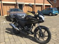 Honda cbf 125 black motorbike, low milage - OPEN TO OFFERS