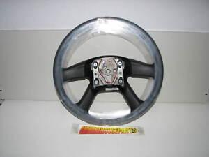 2003-2009 SILVERADO SIERRA TAHOE  BLACK LEATHER WRAPPED STEERING WHEEL 10364494