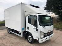 2011 61 ISUZU N75.190 Solomon fridge box carrier freezer meat rails and lift