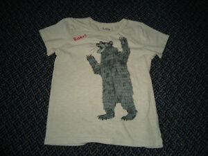 Boys Size 7 Bear Roaring Short Sleeve T-Shirt by ***Hatley****