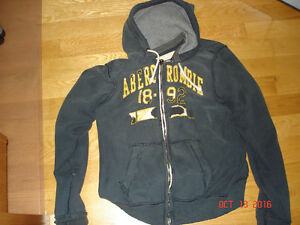 ABERCROMBIE & FITCH LOGO HOODIE AND TOP- SIZE LARGE