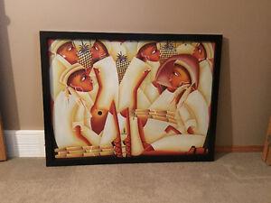 Canvas Painting (women) from Haiti