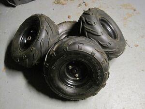 16 x 8.00-7 tire's on rims, atv