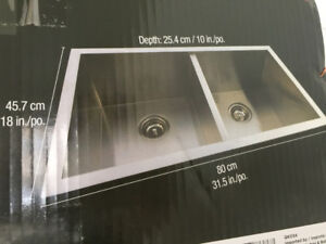 BRAND NEW SEALED PROFESSIONAL Stainless Steel Kitchen Sink
