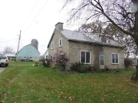 Lovely stone home near Perth on 180 acres Barn & large storage