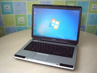 """May Deliver - Toshiba BIG 15.4"""" Laptop - Intel 1.8GHz - Wifi - DVD-RW - Loud Speakers - Long Battery"""