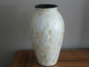 Beautiful Mother of Pearl Large Decorative Vase