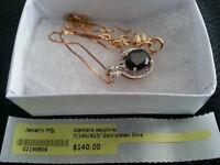 Necklace - Diamond sapphire $45