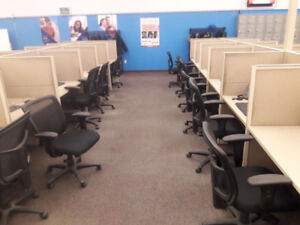 NEED GONE !NOW!! 50-60 Call Center Cubicles INCLUDING 300+Chairs