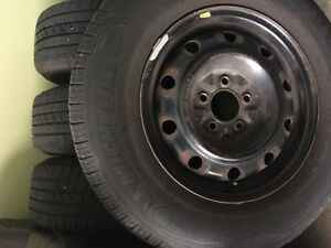 215/70/15 Michelin tires with steel rims