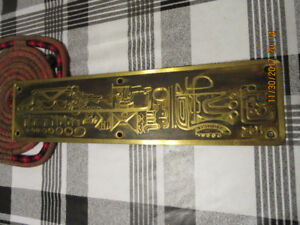 Acid-etched Brass Plate