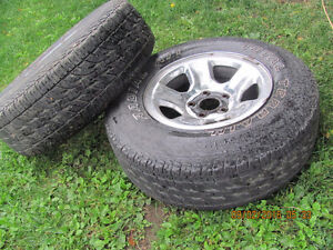 Two Dodge Rims with 265 R 17 Tires, $25 each Prince George British Columbia image 3