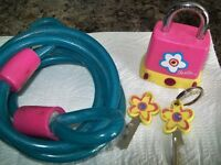 Barbie bike lock