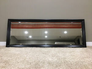 **Beautiful large wood-framed mirror for sale!**
