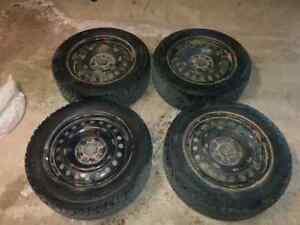 Nokian Hakkapeliitta 4 snow tires 205/60/16 On Rims
