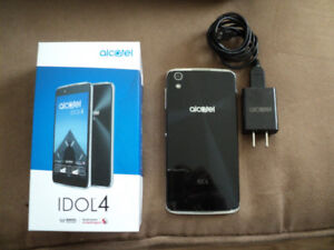 Alcatel IDOL4 Cell Phone complete with charger and User Guide