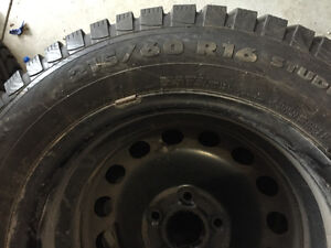 215/60 R16 Snow Tires and rims