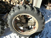 "24"" TRACTOR TIRES AND RIMS"