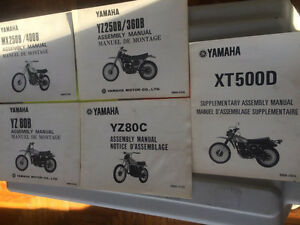 1970s Yamaha Dirt YZ MX TT Model Guide and Assembly Manuals