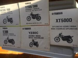 1970s Yamaha Dirt YZ MX TT Model Guide and Assembly Manuals Regina Regina Area image 1