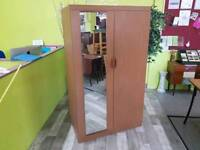Double Wardrobe With Drawers & Mirror -Can Deliver For £19
