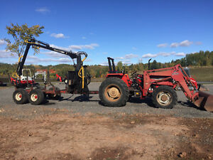 Used Tractor with Log loader and trailer