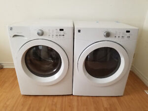 "Manufactured 2014 Kenmore 27"" white frontload washer & dryer set"