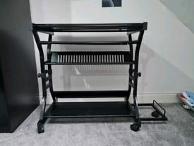 Height adjustable computer desk