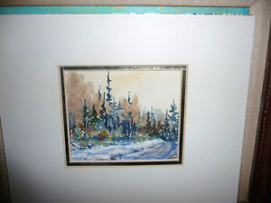 "Myrna Wilkinson ""Winter Shadows"" Original Small Watercolor Stratford Kitchener Area image 1"
