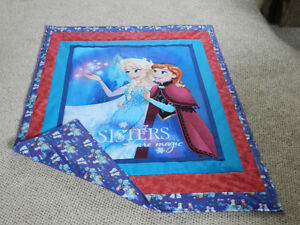 """New Frozen """"Sisters are Magic"""" quilt with 100% cotton frozen bac"""