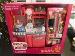 "Our Generation 18"" Doll Gourmet Kitchen Set - BRAND NEW - SEALED"