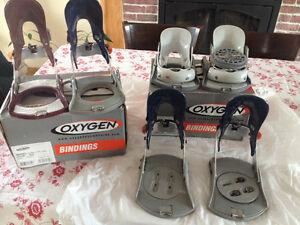 3 paires de fixations Oxygene pour snow board
