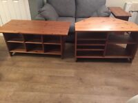 Solid pine tv stand and coffee table