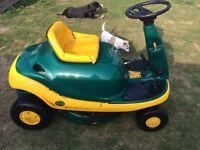 Yardman sit mower ride on mower with grass bag