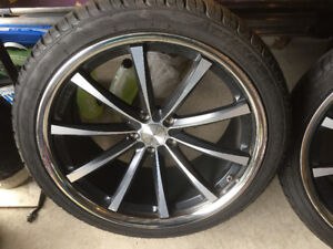 """22"""" REAL 2014 vossens 5 x 120 almost new tires 285 35 22"""