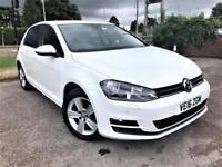 Volkswagen Golf 1.6 TDI Match Edition In White With Satellite Navigation