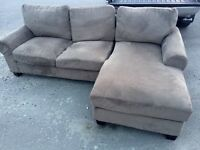 Beige Cloth Sectional