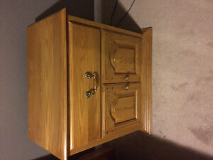 2 Solid Oak night stands
