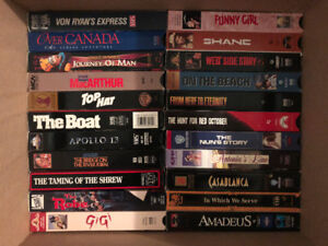 Classic movies on VHS