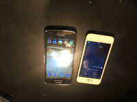I have two cellphones. Samsung core and iPhone 5