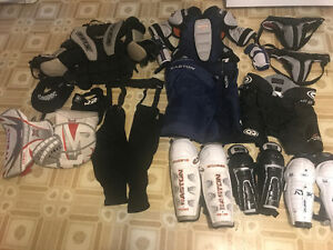 VARIETY OF HOCKEY GEAR