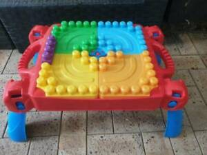 Megablocks Table and Racetrck with ramps