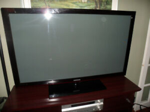 "50"" Samsung Flat Screen Tv        Parts Or Repair !"