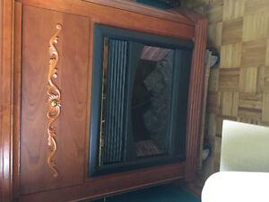 Foyer et table de salon en bois