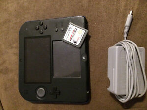 NINTENDO 2DS WITH CHARGER AND MARIOKART