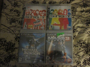 4 new games ps3 first $15 takes them all new sealed games look