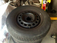 """3 15"""" Black Rims 5x4.25 for Ford, Volvo & others"""