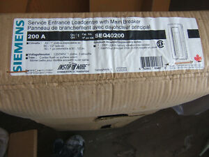 new in box  200 amp Seimens panel  SEQ40200