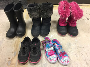 Size 2 youth girl shoes - boots - runners