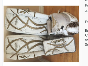 Goalie gear,intermediate goalie pads 30+1blocker and trapper.